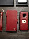 CaseMe Carcasă Pro Samsung Galaxy S9 Peněženka / Pouzdro na karty / Flip Celý kryt Jednobarevné Pevné PU kůže pro S9