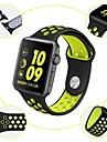 Cinturino per orologio  per Apple Watch Series 4/3/2/1 Apple Cinturino sportivo / Chiusura classica Silicone Custodia con cinturino a strappo