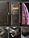 CaseMe Custodia Per Apple iPhone XS Max / iPhone 7 Plus A portafoglio / Porta-carte di credito / Con supporto Integrale Tinta unita Resistente pelle sintetica per iPhone XR / iPhone XS Max / iPhone 8