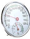 termometro / igrometro in acciaio inossidabile per misuratore di umidita della temperatura della stanza di sauna