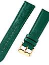 aitoa nahkaa / Nahka / Vasikankarva Watch Band Hihna varten Sininen / Ruskea / Vihreä 17cm / 6.69 Tuumaa / 18cm / 7 tuumaa / 19cm / 7.48 tuumaa 1cm / 0.39 tuumaa / 1.2cm / 0.47 tuumaa / 1.3cm
