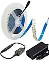 ZDM® 5m ライトセット 1200 LED 2835 SMD 1 ACケーブル / 1×調光スイッチ / 1 X 12V 3A電源 温白色 / クールホワイト カット可能 / 新デザイン / 接続可 100-240 V / 12 V 1セット