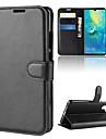غطاء من أجل Huawei هواوي P30 / Huawei P30 Pro محفظة / حامل البطاقات / قلب غطاء كامل للجسم لون سادة قاسي جلد PU إلى Huawei P20 / Huawei P20 Pro / Huawei P20 lite