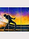 Painettu Pingoitetut kanvasprintit - Ihmiset Moderni 3 paneeli