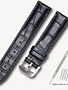 Genuine Leather / Leather / Calf Hair Watch Band Strap for Black / Brown 17cm / 6.69 Inches / 18cm / 7 Inches / 19cm / 7.48 Inches 1.4cm / 0.55 Inches / 1.6cm / 0.6 Inches / 1.8cm / 0.7 Inches