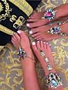 Žene Sandale od nakita Imitacija dijamanta Europska Kratka čarapa Jewelry Crn / Pink / Plava Za Dnevno