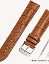 Genuine Leather / Leather / Calf Hair Watch Band Strap for Black / Brown 17cm / 6.69 Inches / 18cm / 7 Inches / 19cm / 7.48 Inches 1.2cm / 0.47 Inches / 1.4cm / 0.55 Inches / 1.6cm / 0.6 Inches