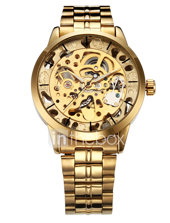 7b66a2de44790 WINNER رجالي ساعة الهيكل ساعة المعصم ووتش الميكانيكية داخل الساعة ...
